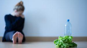 Essstörung Mädchen mit Anorexie