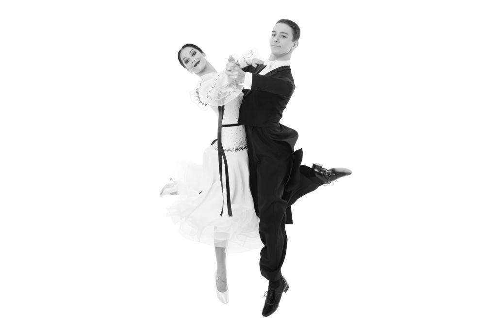Standard Tanzpaar in Aktion